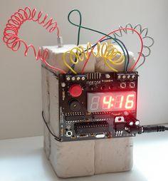 C4 defusable alarm clock. Also available: dynamite defusable alarm clock.