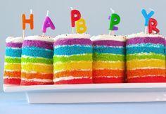 Colorful and full of joy teeny tiny rainbow cakes