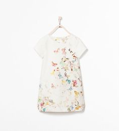 Image 1 of BUTTERFLY PRINT DRESS from Zara