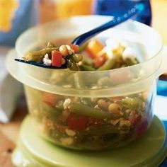 Fresh dill adds zestiness to this salad without overpowering it. You can use cannellini beans or great Northern beans in place of the navy beans.