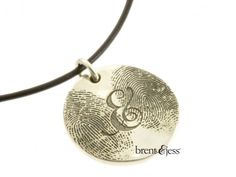 The You & Me Double Fingerprint Necklace - by Brent & Jess Custom Handmade Fingerprint Wedding Rings and Jewelry