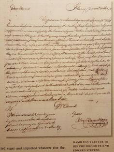 A letter from George Washington to Angelica Schuyler Church