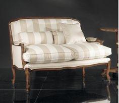 Luxusní stylová pohovka, křeslo  (výběr odstínů korpusu židle i potahů bohatý!) > varianta dvoumístná
