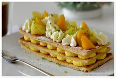 Tropical Mille feuille | www.ifyoulovecooking.com Food Pictures, Waffles, Tropical, Cooking, Breakfast, Kitchen, Morning Coffee, Waffle, Brewing
