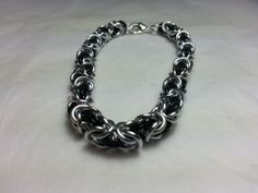 Black and Silver Byzantine Chainmaille by WyndstarCreations, $15.00