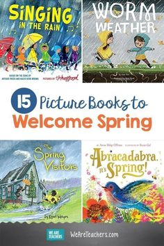 15 Picture Books to Welcome Spring 15 Picture Books to Welcome Spring. C'mon, spring! This list of spring books for kids features titles that will help you and your students welcome the new season. Weather Activities, Spring Activities, Baby Activities, Educational Activities, Books For Boys, Childrens Books, Baby Books, Spring Books, Books About Spring