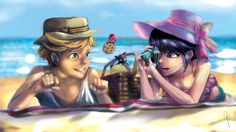 Adrien and Marinette Summer shoot I love this series so much