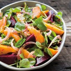 Roasted Beet, Fennel, Orange and Watercress Salad