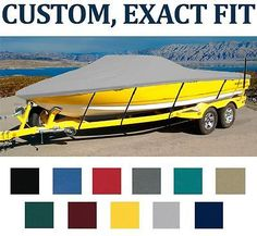 7OZ CUSTOM BOAT COVER BAYLINER 175 BOWRIDER W/WAKEBOARD TOWER W/EXT SWP 12-17