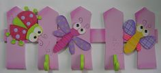 Mente Creativa: PERCHEROS NIÑA EN COUNTRY Foam Crafts, Diy And Crafts, Crafts For Kids, Decoupage Furniture, Kids Furniture, Kids Play Area, Kids Room, Wood Projects, Projects To Try