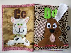 Alphabet ABC Quiet Book customized fabric by TheFruitfulVine
