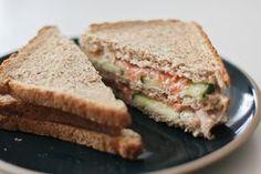 Club sandwich de l'été : concombre, saumon and miel