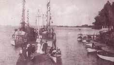 This postcard postmarked 1907 shows the dock at Round Island with a variety of watercraft docked there. Water Crafts, River, Island, Painting, Art, Art Background, Painting Art, Kunst, Islands