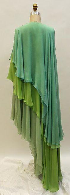 Evening dress Madame Grès (Alix Barton) (French, Paris 1903–1993 Var region) Date: 1960–69 Culture: French Medium: silk. Sideway
