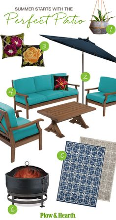 Imagine your Perfect Patio now find it at Plow 038 Hearth Plan your perfect pati … – Outdoor Rugs patio Diy Outdoor Furniture, Patio Furniture Sets, Outdoor Rooms, Outdoor Decor, Outdoor Living, Furniture Stores, Cheap Furniture, Furniture Ideas, Outdoor Projects
