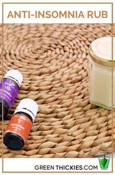 DIY Anti-Insomnia Rub recipe using Young living essential oils