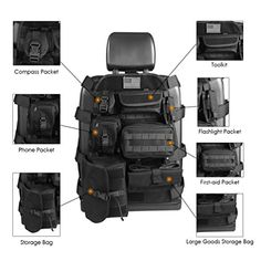 SUNPIE Universal Seat Cover Case with Organizer Storage Muti Pocket fit Jeep Wrangler Unlimited CJ YJ Cherokee Rubicon Ford Ridgeline Seat Protector Multiple Pockets – Hunting And Tactical Gear White Jeep Wrangler, Jeep Wrangler Unlimited Rubicon, 2016 Jeep Wrangler, Wrangler Jk, Cj Jeep, Jeep Cj7, Jeep Mods, Jeep Wrangler Accessories, Truck Accessories
