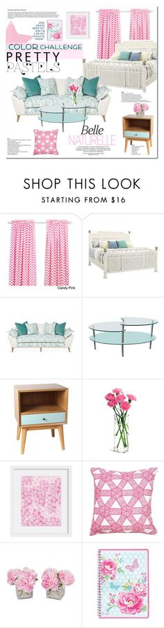 """""""Color Challenge: Pretty Pastels"""" by vanjazivadinovic ❤ liked on Polyvore featuring interior, interiors, interior design, home, home decor, interior decorating, Tommy Bahama, Kim Salmela, Walker Edison and GreenGate"""