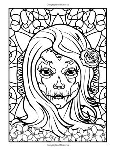 Print Sexy Sugarskull Coloring Pages Sugar Skull Coloring Pages