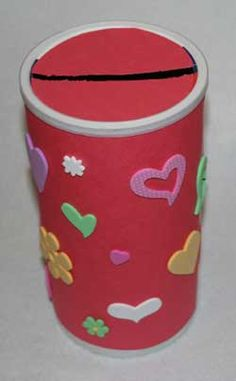 valentine mailbox craft from an oatmeal container
