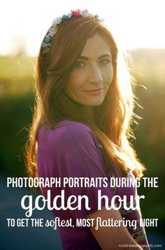 Portrait Photo Tip: Photograph portraits during the golden hour