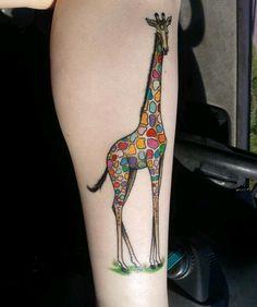 Rainbow Giraffe, by Bryan Mozjesik at Big Brain in Omaha, NE