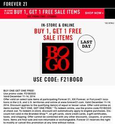 F21 coupon code