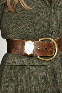 tweed + leather belt  love this material so tactile