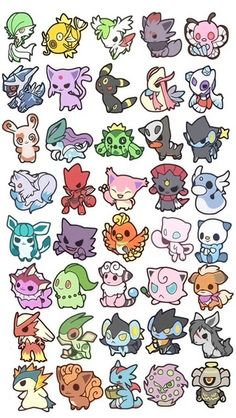 Cute chibi pokemon