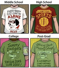 What Your Favorite T-Shirt Means At Every Stage Of Your Life - Neatorama