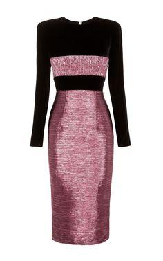 Roco Long Sleeve Lady Dress by ALEX PERRY for Preorder on Moda Operandi