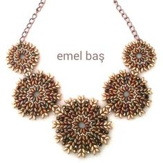 A new superduo necklace by Emel Bas from Turkey