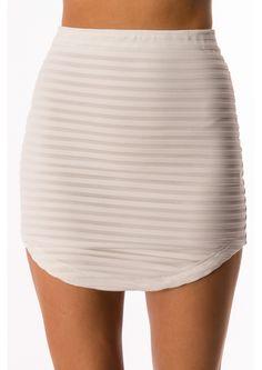 Coconut Crunch Skirt - White $29.95