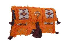 NADIA DAFRI  Moroccan clutches made with vintage Kilim rugs. Each piece is unique.