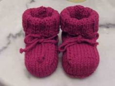 Easy Baby Booties Knitting