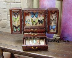 Butterfly Collectors Cabinet erickav.com miniatures