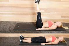 12. Straight Leg Raises Cardio Abs, Pilates Workout, Pop Pilates, Pilates Yoga, Hiit, Yoga Videos, Workout Videos, Workout Tips, Workout Plans