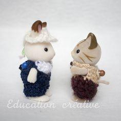 Petites tenues #originales pour les #SylvanianFamilies par #Educationcreative