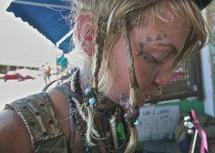 New Orleans 2008 facial tattoo girl homeless baby jazz los…   Flickr