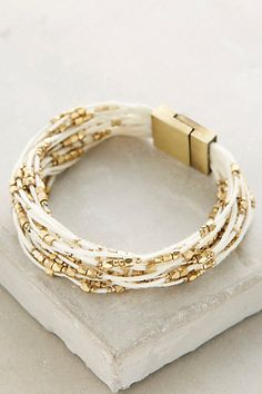 Bora Bora Bracelet in blue and gold #anthropologie