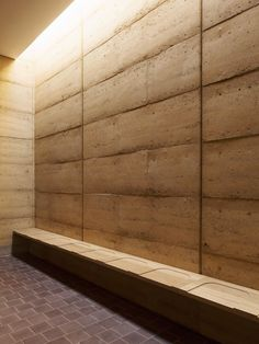 Waugh Thistleton has added a pair of new prayer halls to a Jewish cemetery in Hertfordshire, which features rammed-earth walls. Sustainable Architecture, Architecture Details, Interior Architecture, Pavilion Architecture, Architecture Drawings, Residential Architecture, Contemporary Architecture, Interior Design, Rammed Earth Homes