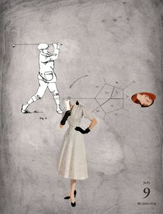 09/07/2014 Hoyo en 1 #collage #golf #head #illustration by Gustavo Solana #TASCHEN #diascontados