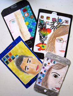 immagin @ rts: Let's selfies! Projects For Kids, Art Projects, School Projects, Middle School Art, Art School, 5th Grade Art, Selfies, Arts Ed, Art Lesson Plans