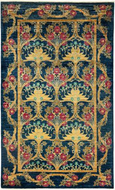 Darya Rugs Arts and Crafts Nery Rug. Handknotted. 5'x8' $2K. Rugs USA.
