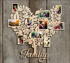 Rama Foto Lemn Copac Family Personalizata Gravura Laser No. 2 Wood Photo Frame Family Tree Customized No. Paper Flower Decor, Flower Decorations, Paper Flowers, Cut Photo, Make Photo, Laser Cutter Ideas, Tree Templates, Frame Light, Photo Tree