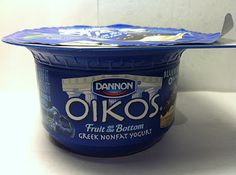 Crazy Food Dude Review: Dannon Oikos Blueberry 0% Greek Yogurt