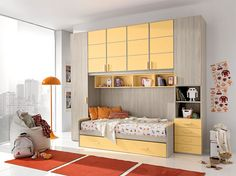"""UNOXTUTTI has many ideas: solutions save space, and a removable bridge with writing desks, beds sliding, loft beds and castle with detachable third network, mobile trasformisti """"accompanying the growth of boys meet their needs. http://www.giessegi.it/it/camerette-ragazzi-bambini?utm_source=pinterest.com&utm_medium=post&utm_content=&utm_campaign=post-camerette"""