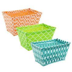 Trendy Colorful Printed Plastic Storage Bin