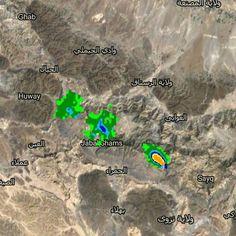 #شبكة_أجواء : #عمان : خلايا ماطرة يرصدها رادار غيث