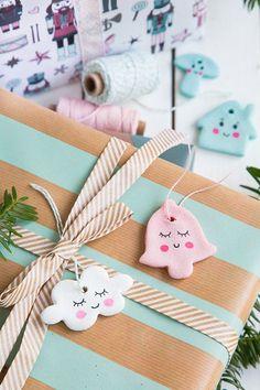 Anhänger für Geschenke aus Salzteig von www.pfefferminzgrue.blogspot.de